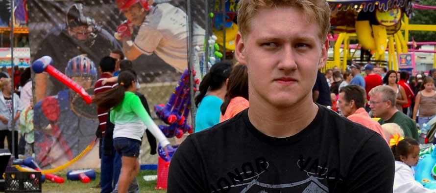 angry teen at the fair